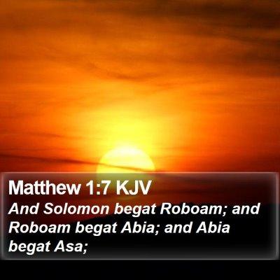 Matthew 1:7 KJV Bible Verse Image
