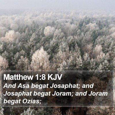 Matthew 1:8 KJV Bible Verse Image