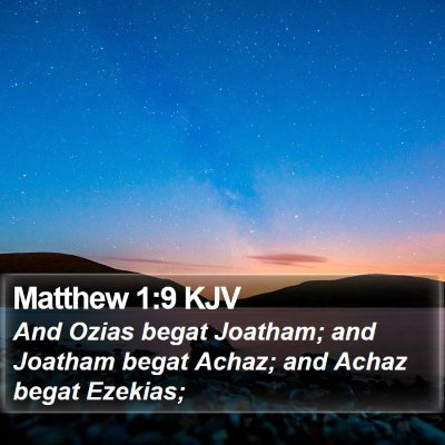 Matthew 1:9 KJV Bible Verse Image