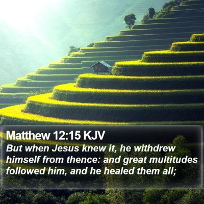 Matthew 12:15 KJV Bible Verse Image