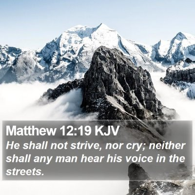 Matthew 12:19 KJV Bible Verse Image