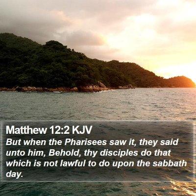 Matthew 12:2 KJV Bible Verse Image