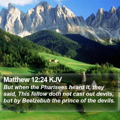 Matthew 12:24 KJV Bible Verse Image