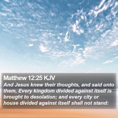 Matthew 12:25 KJV Bible Verse Image