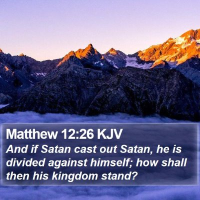 Matthew 12:26 KJV Bible Verse Image