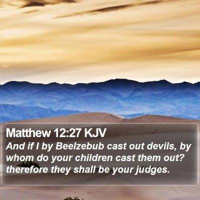 Matthew 12:27 KJV Bible Verse Image