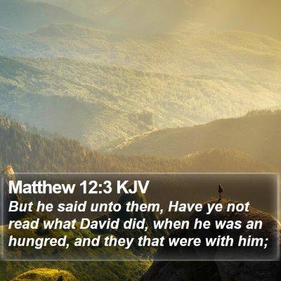 Matthew 12:3 KJV Bible Verse Image