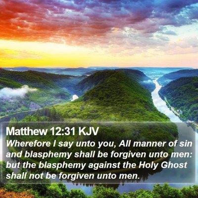Matthew 12:31 KJV Bible Verse Image