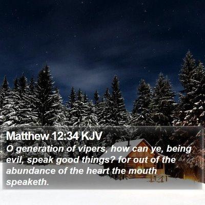 Matthew 12:34 KJV Bible Verse Image