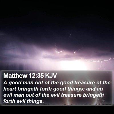 Matthew 12:35 KJV Bible Verse Image