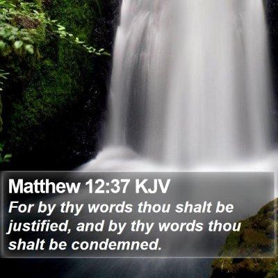 Matthew 12:37 KJV Bible Verse Image