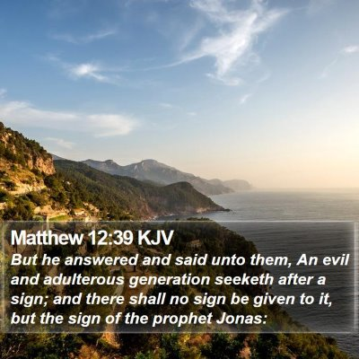 Matthew 12:39 KJV Bible Verse Image