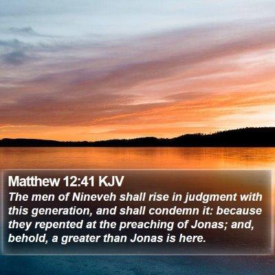 Matthew 12:41 KJV Bible Verse Image