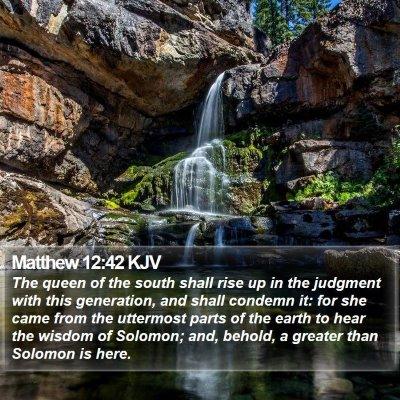 Matthew 12:42 KJV Bible Verse Image