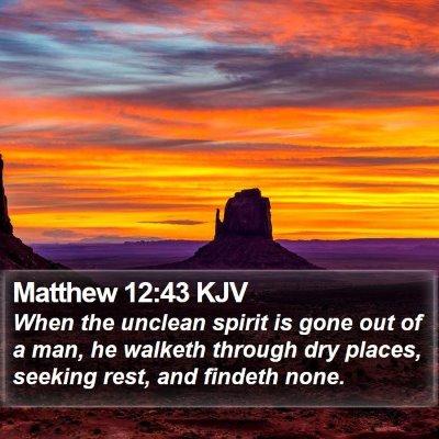 Matthew 12:43 KJV Bible Verse Image