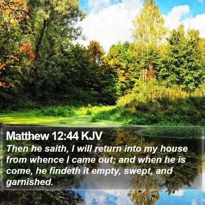 Matthew 12:44 KJV Bible Verse Image