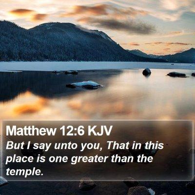 Matthew 12:6 KJV Bible Verse Image