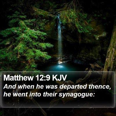 Matthew 12:9 KJV Bible Verse Image