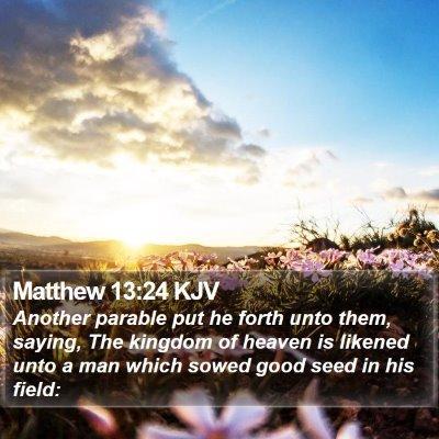 Matthew 13:24 KJV Bible Verse Image