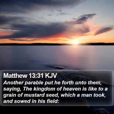 Matthew 13:31 KJV Bible Verse Image
