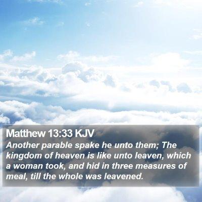 Matthew 13:33 KJV Bible Verse Image