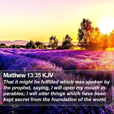 Matthew 13:35 KJV Bible Verse Image