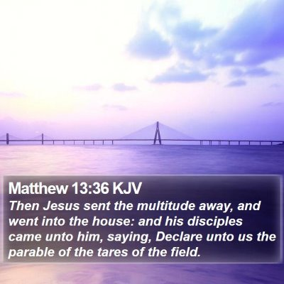 Matthew 13:36 KJV Bible Verse Image