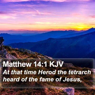 Matthew 14:1 KJV Bible Verse Image