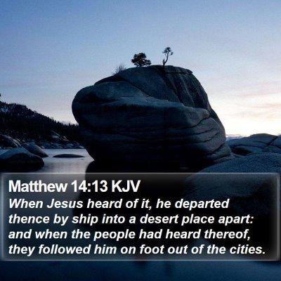 Matthew 14:13 KJV Bible Verse Image