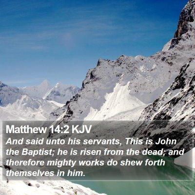 Matthew 14:2 KJV Bible Verse Image