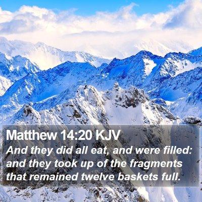 Matthew 14:20 KJV Bible Verse Image