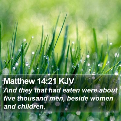 Matthew 14:21 KJV Bible Verse Image