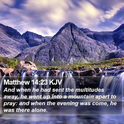 Matthew 14:23 KJV Bible Verse Image