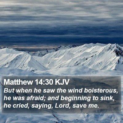 Matthew 14:30 KJV Bible Verse Image