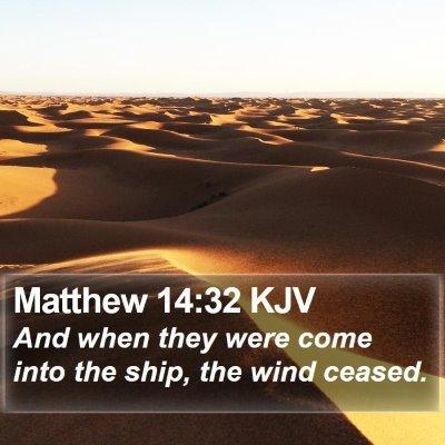 Matthew 14:32 KJV Bible Verse Image