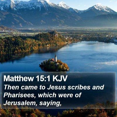 Matthew 15:1 KJV Bible Verse Image