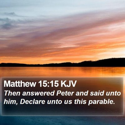 Matthew 15:15 KJV Bible Verse Image