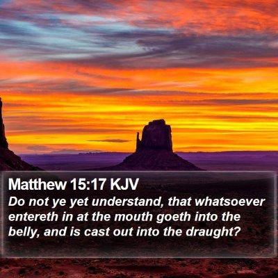 Matthew 15:17 KJV Bible Verse Image