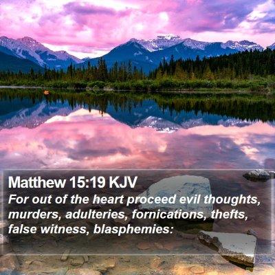 Matthew 15:19 KJV Bible Verse Image