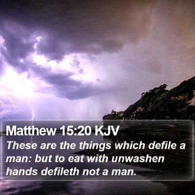 Matthew 15:20 KJV Bible Verse Image