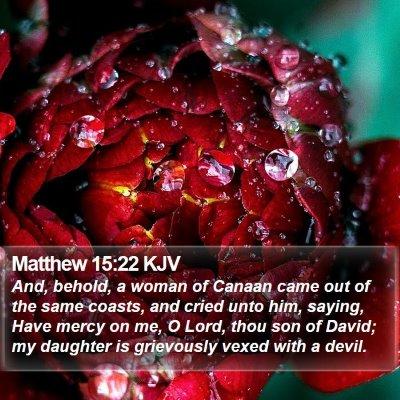 Matthew 15:22 KJV Bible Verse Image