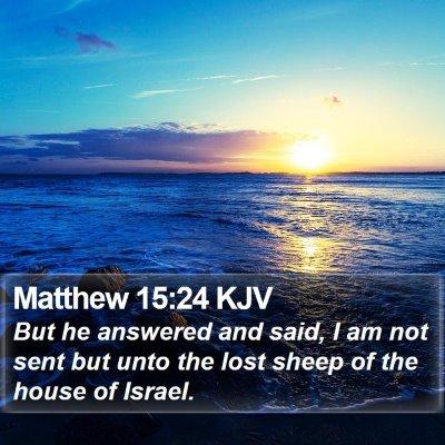 Matthew 15:24 KJV Bible Verse Image