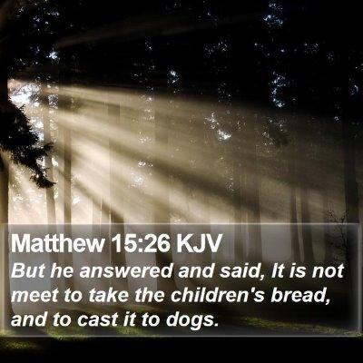 Matthew 15:26 KJV Bible Verse Image