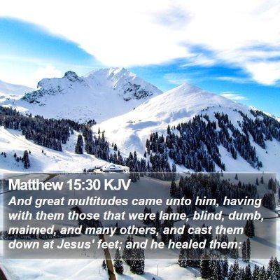 Matthew 15:30 KJV Bible Verse Image
