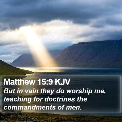 Matthew 15:9 KJV Bible Verse Image