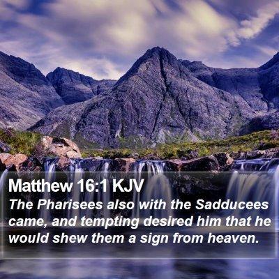 Matthew 16:1 KJV Bible Verse Image
