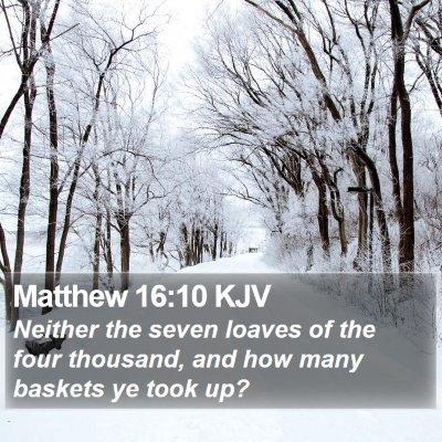 Matthew 16:10 KJV Bible Verse Image