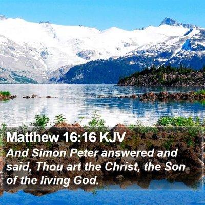 Matthew 16:16 KJV Bible Verse Image
