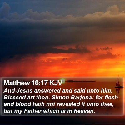 Matthew 16:17 KJV Bible Verse Image