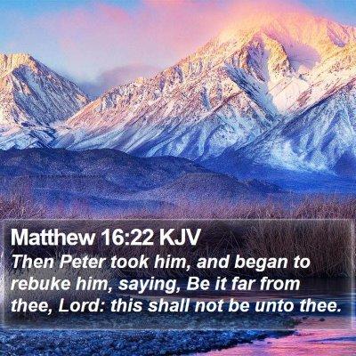 Matthew 16:22 KJV Bible Verse Image